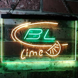 Bud Light Lime Neon-Like LED Sign - Dual Color - Green and Yellow - SafeSpecial