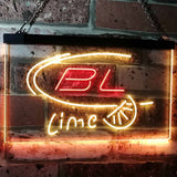 Bud Light Lime Neon-Like LED Sign - Dual Color - Red and Yellow - SafeSpecial