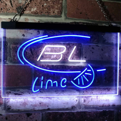 Bud Light Lime Neon-Like LED Sign - Dual Color - White and Blue - SafeSpecial