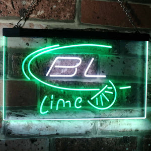 Bud Light Lime Neon-Like LED Sign - Dual Color - White and Green - SafeSpecial