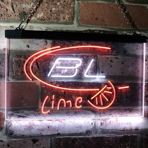Bud Light Lime Neon-Like LED Sign - Dual Color - White and Orange - SafeSpecial