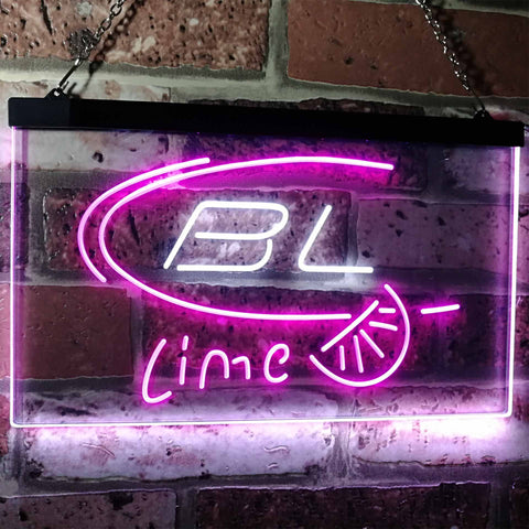 Bud Light Lime Neon-Like LED Sign - Dual Color - White and Purple - SafeSpecial