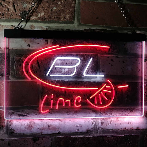 Bud Light Lime Neon-Like LED Sign - Dual Color - White and Red - SafeSpecial
