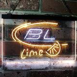 Bud Light Lime Neon-Like LED Sign - Dual Color - White and Yellow - SafeSpecial