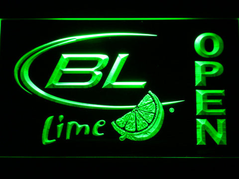 Bud Light Lime Open LED Neon Sign - Green - SafeSpecial