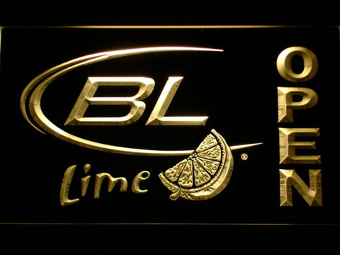 Bud Light Lime Open LED Neon Sign - Yellow - SafeSpecial