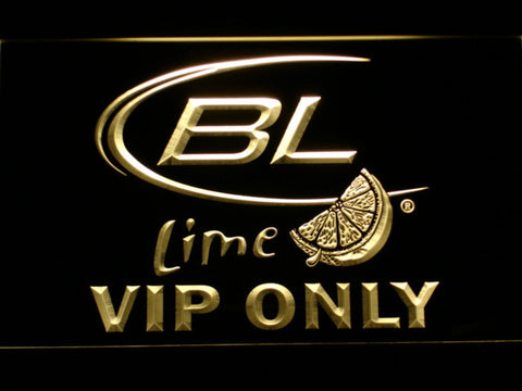 Bud Light Lime VIP Only LED Neon Sign - Yellow - SafeSpecial
