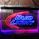 Bud Light Logo 1 Neon-Like LED Sign - Dual Color - Blue and Red - SafeSpecial