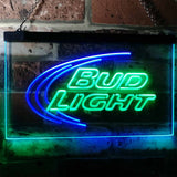 Bud Light Logo 1 Neon-Like LED Sign - Dual Color - Green and Blue - SafeSpecial