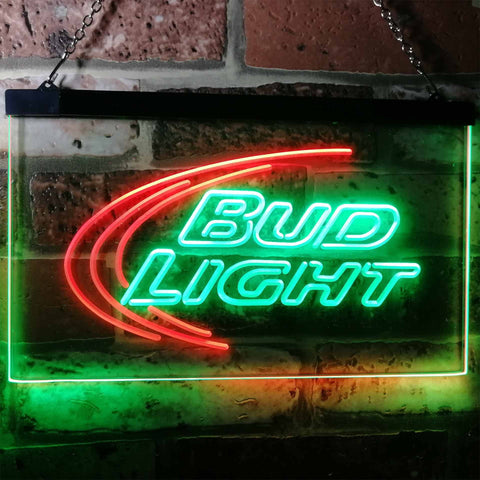 Bud Light Logo 1 Neon-Like LED Sign - Dual Color - Green and Red - SafeSpecial