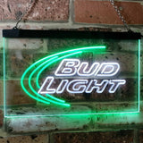 Bud Light Logo 1 Neon-Like LED Sign - Dual Color - White and Green - SafeSpecial