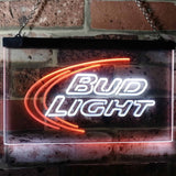 Bud Light Logo 1 Neon-Like LED Sign - Dual Color - White and Orange - SafeSpecial