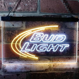 Bud Light Logo 1 Neon-Like LED Sign - Dual Color - White and Yellow - SafeSpecial