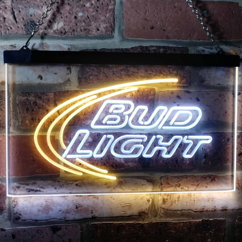 Image of Bud Light Logo 1 Neon-Like LED Sign - Dual Color