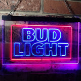 Bud Light Logo 2 Neon-Like LED Sign - Dual Color - Blue and Red - SafeSpecial