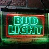 Bud Light Logo 2 Neon-Like LED Sign - Dual Color - Green and Red - SafeSpecial