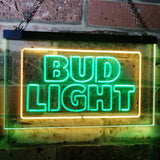 Bud Light Logo 2 Neon-Like LED Sign - Dual Color - Green and Yellow - SafeSpecial