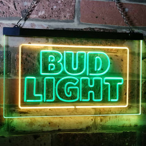 Bud Light Logo 2 Neon-Like LED Sign - Dual Color