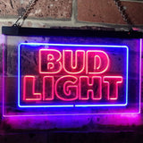 Bud Light Logo 2 Neon-Like LED Sign - Dual Color - Red and Blue - SafeSpecial