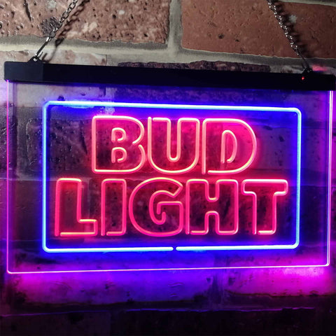 Image of Bud Light Logo 2 Neon-Like LED Sign - Dual Color