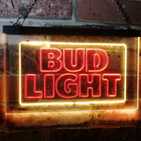 Bud Light Logo 2 Neon-Like LED Sign - Dual Color - Red and Yellow - SafeSpecial