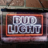 Bud Light Logo 2 Neon-Like LED Sign - Dual Color - White and Orange - SafeSpecial