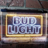 Bud Light Logo 2 Neon-Like LED Sign - Dual Color - White and Yellow - SafeSpecial