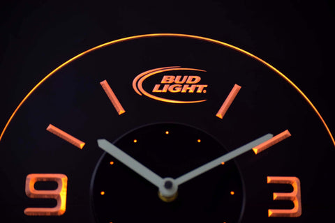Image of Bud Light Modern LED Neon Wall Clock - Yellow - SafeSpecial