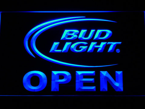 Image of Bud Light Open LED Neon Sign - Blue - SafeSpecial