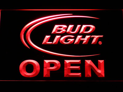 Bud Light Open LED Neon Sign - Red - SafeSpecial