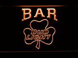 Bud Light Shamrock Bar LED Neon Sign - Orange - SafeSpecial