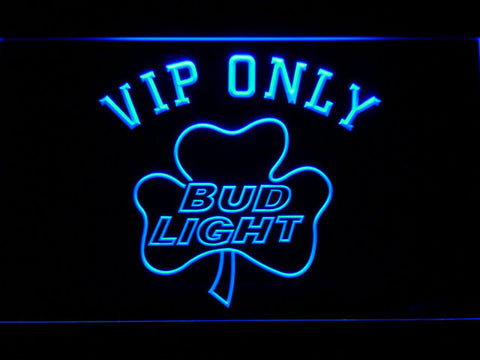 Bud Light Shamrock VIP Only LED Neon Sign - Blue - SafeSpecial