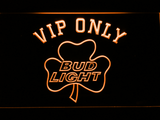 Bud Light Shamrock VIP Only LED Neon Sign - Orange - SafeSpecial