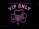 Bud Light Shamrock VIP Only LED Neon Sign - Purple - SafeSpecial