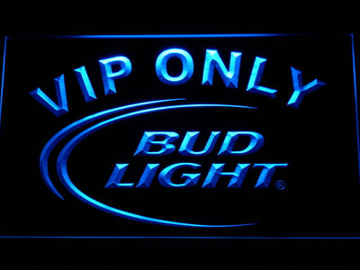 Bud Light VIP Only LED Neon Sign - Blue - SafeSpecial