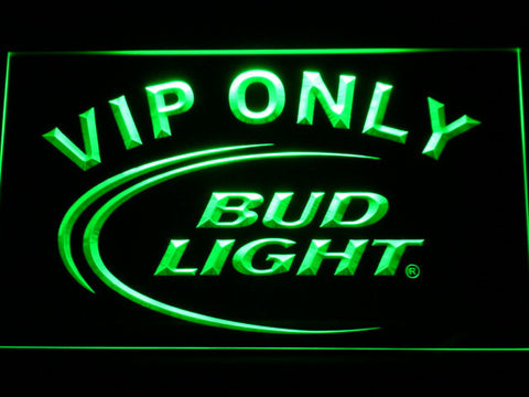 Image of Bud Light VIP Only LED Neon Sign - Green - SafeSpecial