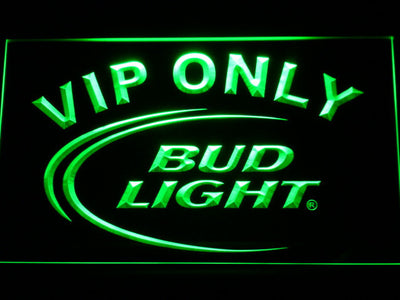 Bud Light VIP Only LED Neon Sign - Green - SafeSpecial