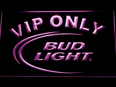 Bud Light VIP Only LED Neon Sign - Purple - SafeSpecial