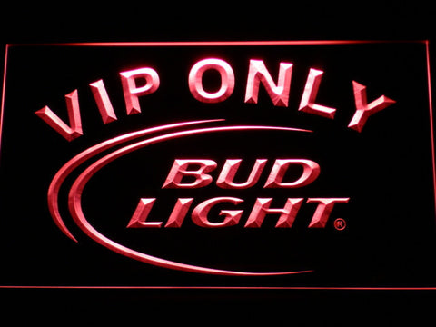 Image of Bud Light VIP Only LED Neon Sign - Red - SafeSpecial