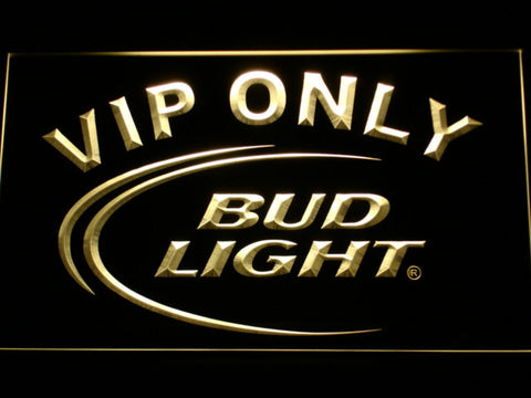Image of Bud Light VIP Only LED Neon Sign - Yellow - SafeSpecial