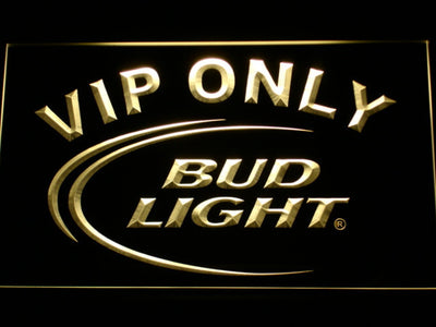 Bud Light VIP Only LED Neon Sign - Yellow - SafeSpecial