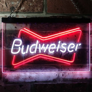 Budweiser 1 Neon-Like LED Sign - Dual Color - White and Red - SafeSpecial