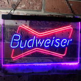 Budweiser 2 Neon-Like LED Sign - Dual Color - Blue and Red - SafeSpecial