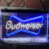 Budweiser 2 Neon-Like LED Sign - Dual Color - White and Blue - SafeSpecial
