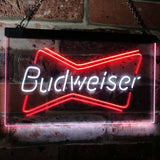 Budweiser 2 Neon-Like LED Sign - Dual Color - White and Red - SafeSpecial
