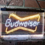 Budweiser 2 Neon-Like LED Sign - Dual Color - White and Yellow - SafeSpecial