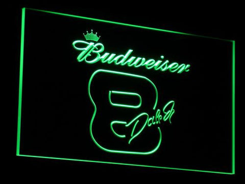 Budweiser 8 Dale Jr. LED Neon Sign - Green - SafeSpecial