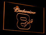 Budweiser 8 Dale Jr. LED Neon Sign - Orange - SafeSpecial