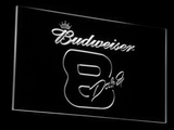 Budweiser 8 Dale Jr. LED Neon Sign - White - SafeSpecial