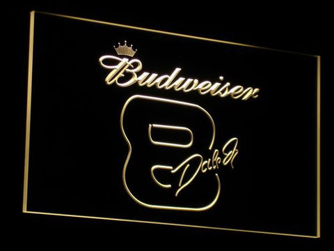 Budweiser 8 Dale Jr. LED Neon Sign - Yellow - SafeSpecial